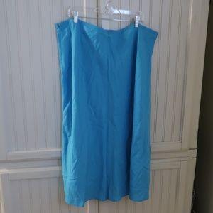 Ashley Stewart Blue Linen Skirt 22w